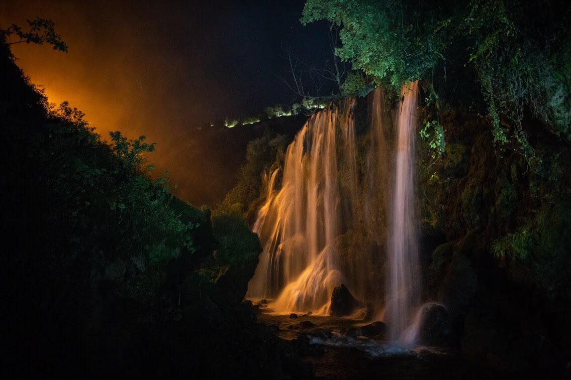 Cascata delle Marmore di Notte River Walking Notturno