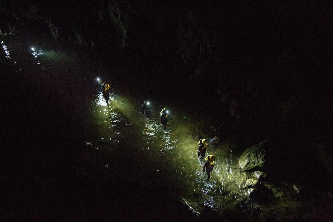 River Walking Notturno dall'alto