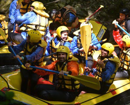 Giornata di Rafting sotto la cascata delle Marmore