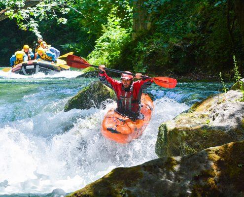 Kayak e Canoa Presso Rafting Marmore in Umbria