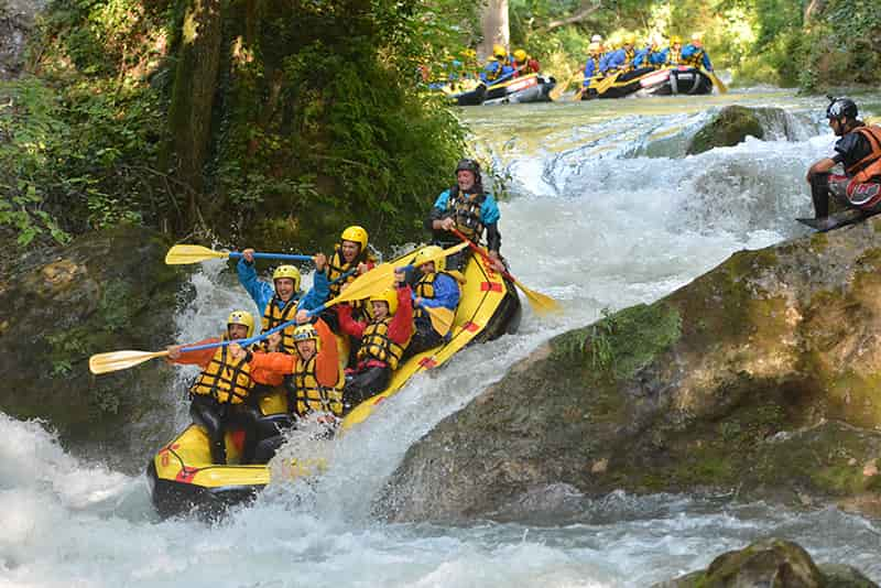 discesa in rafting