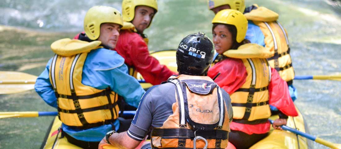 guida parla con rafting marmore