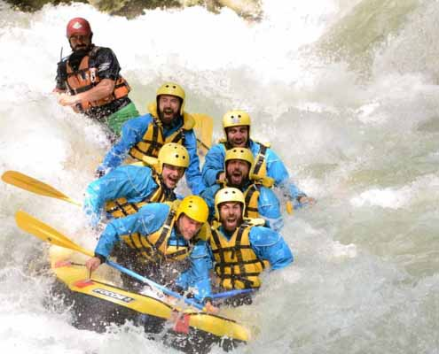 team building sul gommone rafting