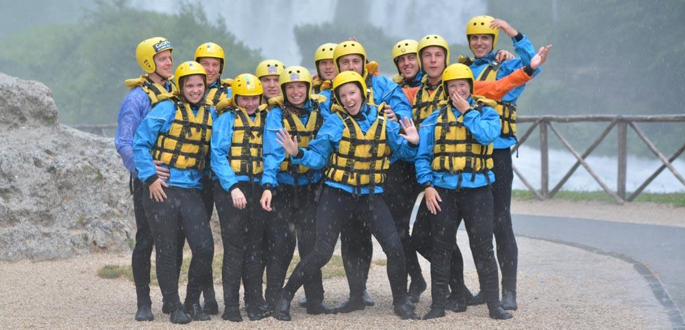 il Rafting con pioggia si può fare